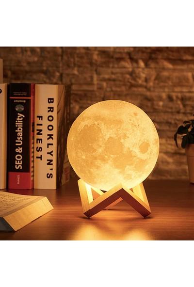 3D Ay Gece Lambası Dekoratif Küre
