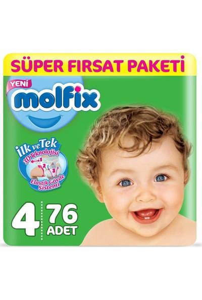 Molfix Bebek Bezi 4 Beden Süper Fırsat 76 7 - 14 kg