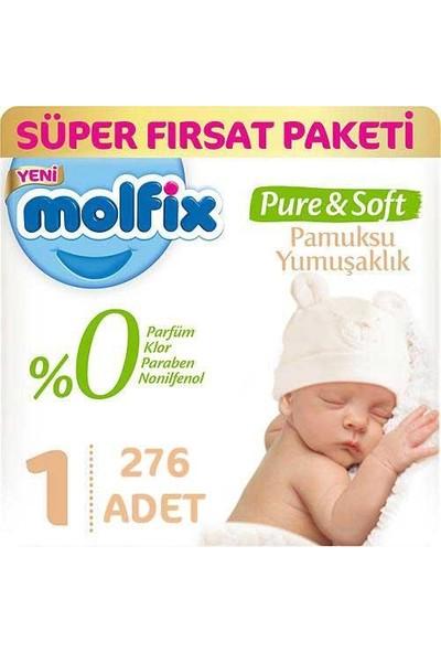Molfix Bebek Bezi Pure & Soft 1 Beden Yenidoğan Süper Fırsat 276 2 - 5 kg