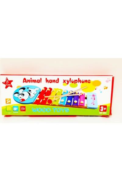 Wood Toys Myd Oyuncak Ahşap Ksilofon 8 Nota 8 Ton Hayvan Figürlü