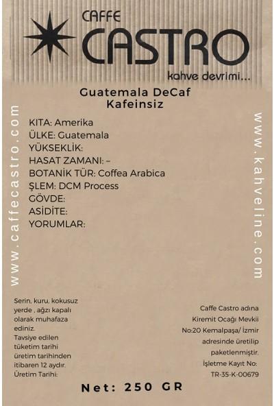 Castro Decaf Guatemala (Dcm Process) Kafeinsiz Kahve 250 gr