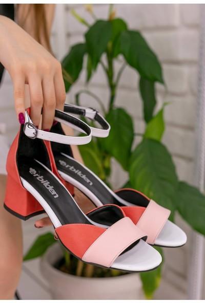 Erbilden Kaina Pudra Cilt Renkli Topuklu Ayakkabı