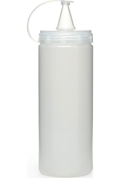 Titiz Plastik 2 Adet Sızdırmaz Kapaklı Masterchef Plastik Yağ ve Sos Şişesi