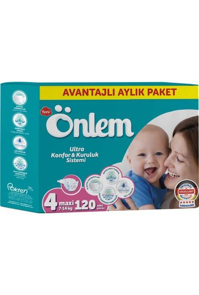 Önlem Bebek Bezi Aylık Paket 4 Beden Maxi 120 Adet (7-14 Kg)