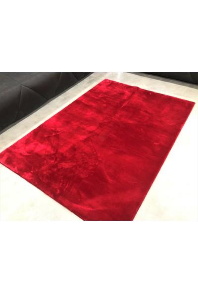 Dinarsu Peluş Halı Loft Kırmızı 080X150