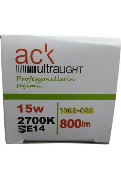 Ack 15W Tararruflu Ampül - E14 Gün Işığı
