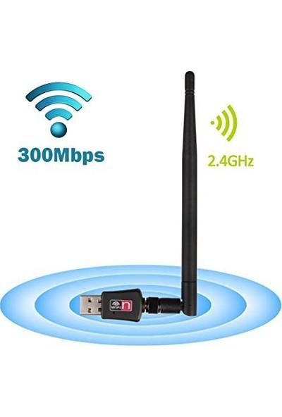 Rocketek Wifi USB Adaptör Wireless Adaptör Alıcı 2.4 Ghz 600MBPS