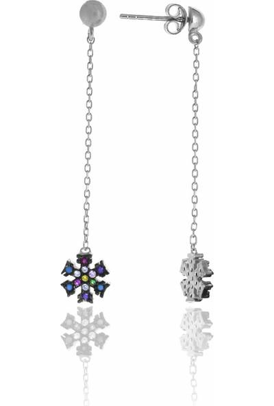 Midyat Nurtaş Gümüş Kartanesi Tasarım Renkli Taşlı Gümüş Üçlü Set