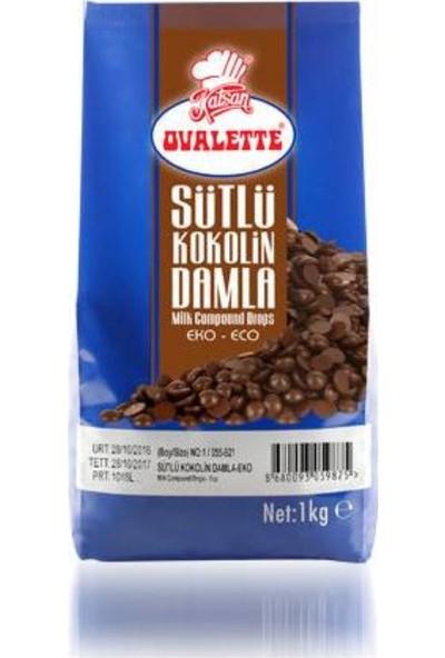 Ovalette Sütlü Kokolin Damla Çikolata Eko 1 kg