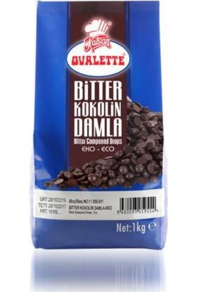 Ovalette Bitter Kokolin Damla Çikolata Eko 1 kg