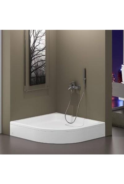 Central 90X90 Akrilik Oval Duş Teknesi+Sifon Hediye