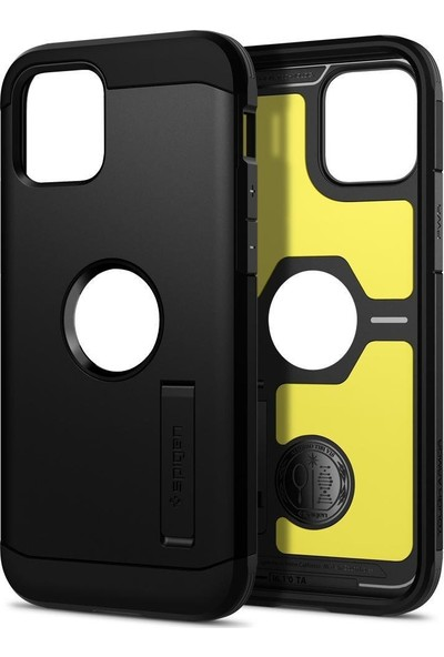 Spigen Apple iPhone 12 / iPhone 12 Pro Kılıf Tough Armor Black - ACS01710