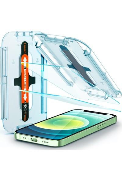 Spigen Apple iPhone 12 Mini Cam Ekran Koruyucu Kolay Kurulum Glas.tR EZ Fit (2 Adet) - AGL01811