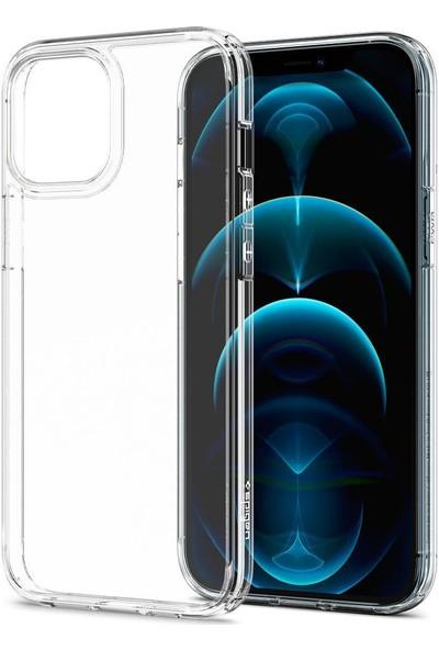 Spigen Apple iPhone 12 Pro Max Kılıf Ultra Hybrid Crystal Clear - ACS01618