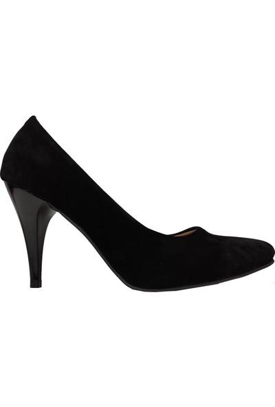 Önder 18522 Stiletto Süet Ince Topuklu Kadın Ayakkabı