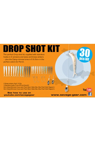 Savage Gear Dying Minnow Drop Shot Pro Pack Kit 30 Adet Nl Suni Yem