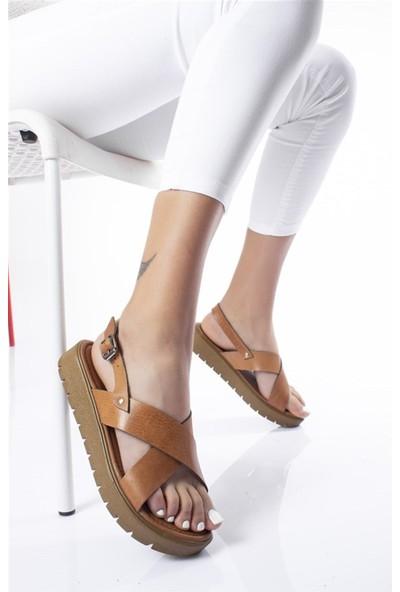 Modagon Pers Sandalet Beyaz