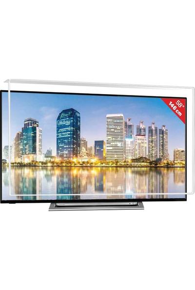 Nunamax Nano3mm TOSHİBA 58UL3A63DT - Kırılmaz TV Ekran Koruyucu