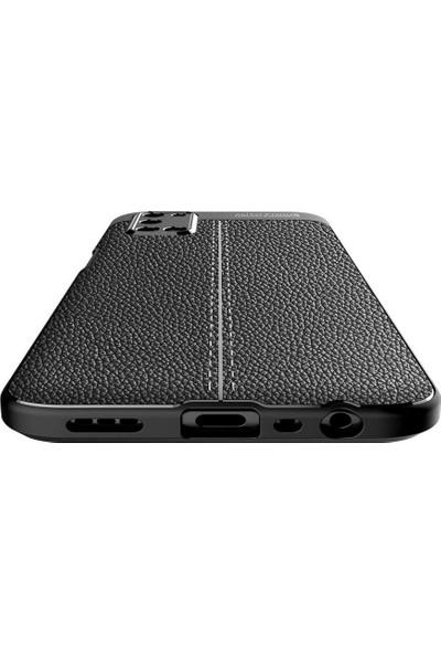 Vendas Oppo A72 Deri Desenli Premium Silikon Kılıf Siyah