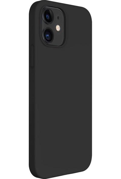 Vendas Apple iPhone 12 Mini Premier Soft Serisi Yumuşak Dokulu Kılıf Siyah