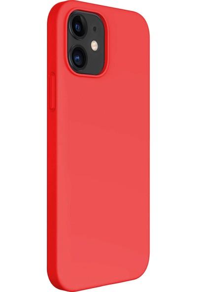Vendas Apple iPhone 12 Mini Premier Soft Serisi Yumuşak Dokulu Kılıf Kırmızı
