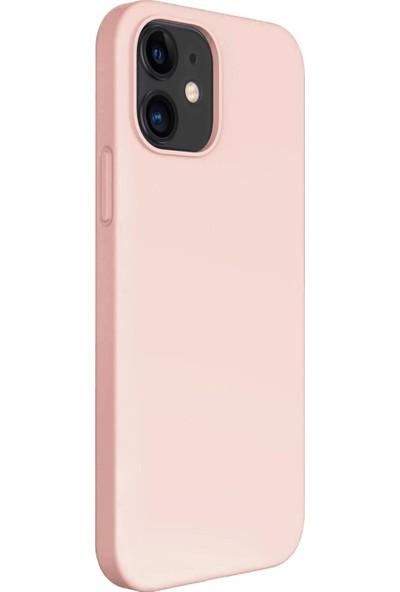 Vendas Apple iPhone 12 Mini Premier Soft Serisi Yumuşak Dokulu Kılıf Rose Gold