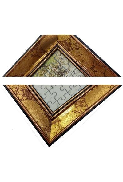 Deritel 1000 Parça Puzzle Çerçevesi Altın Hareli 48 * 68 cm