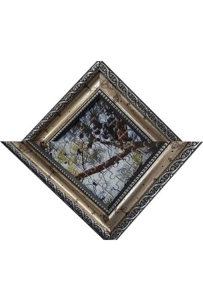 Deritel 1000 Parça Puzzle Çerçevesi Gümüş 48 * 68 cm