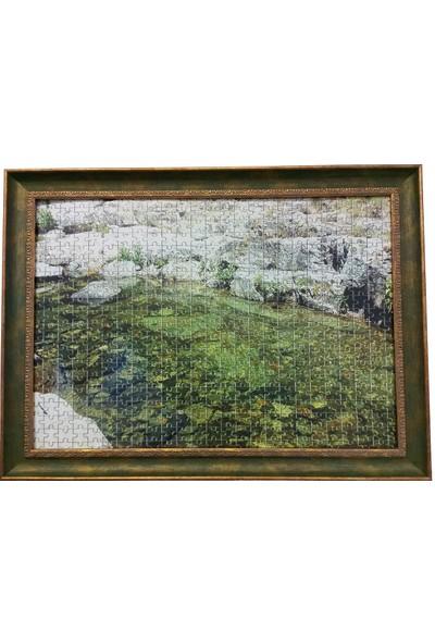 Deritel 1000 Parça Puzzle Çerçevesi Yeşil 48 * 68 cm