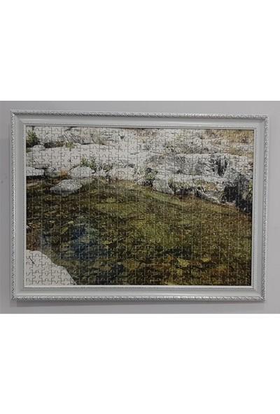 Deritel 1000 Parça Puzzle Çerçevesi Beyaz Pvc Cam Puzzle Yapıştırıcı