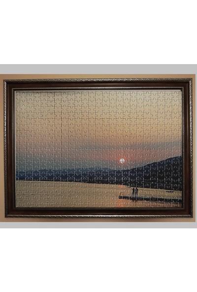 Deritel 1000 Parça Puzzle Çerçevesi Ceviz Pvc Cam Puzzle Yapıştırıcısı