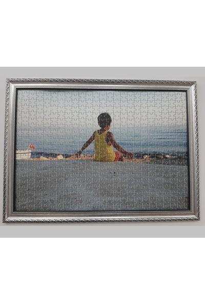 Deritel 1500 Parça Puzzle Çerçevesi Gümüş 85 * 60 cm