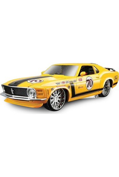 Maisto Ford Mustang Boss 1970 1:24 Model Araba Pro Rodz Sarı