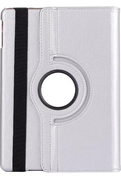 "Essleena Samsung Galaxy Tab S6 Lite SMP610 10.4"" 360 Derece Dönebilen Tablet Kılıfı+Nano Cam+Kalem Gri Gri"