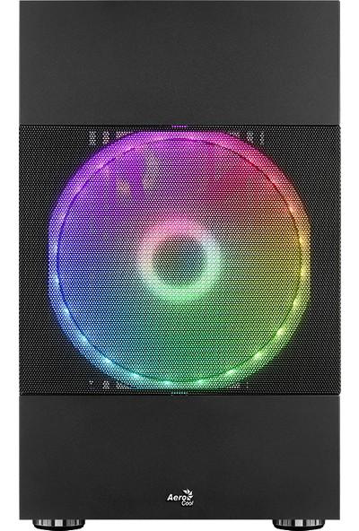 Aerocool Atomic ARGB Adreslenebilir RGB Fanlı, Dik Ekran Kartı Takılabilen, Tempered Glass Yan Panelli, USB 3.0 Bilgisayar Kasası (AE-ATMC)