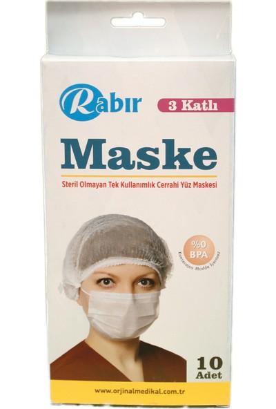 Rabır 3 Katlı Telli Cerrahi Maske 50 Adet