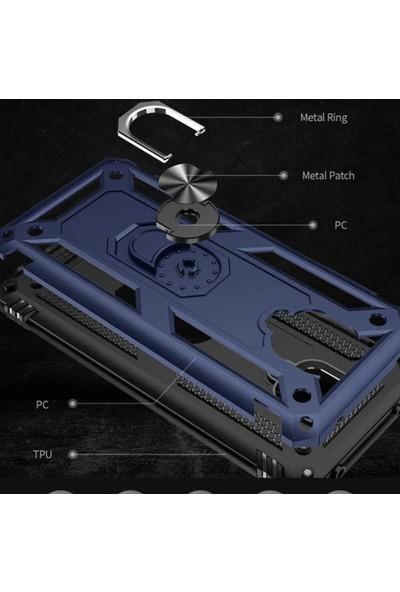 Mopal Xiaomi Redmi Note 9 Pro Cross Military Vega Tank Zırh Metal Yüzüklü Standlı