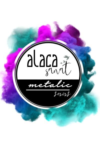 Alaca Sanat Epoksi Metalik Toz Pigment Boya Seti - 6 Renk Set Halinde
