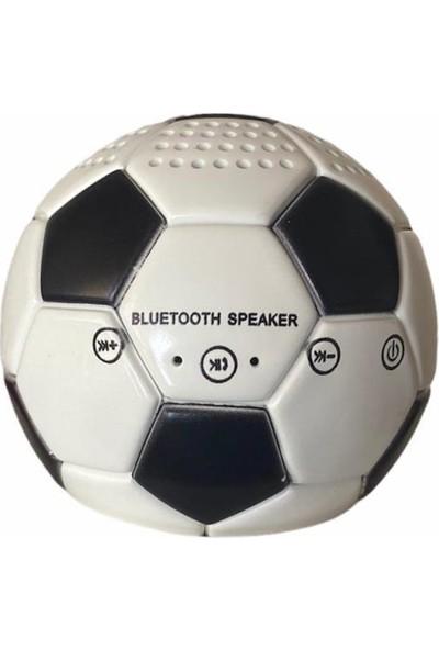 Doppler Siyah Beyaz Mini Futbol Topu Kablosuz Bluetooth Hoparlör