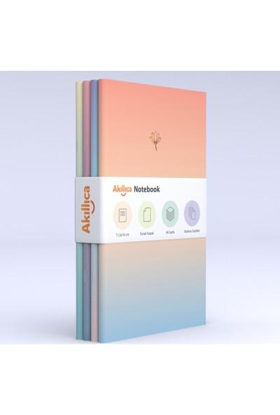 Akıllıca Notebook Defter Set Soft Gradient Serisi 11,5 x 16 cm 4'lü