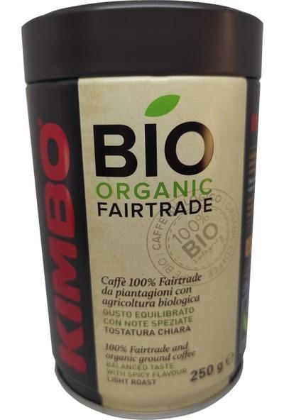 Kimbo Bio Organic Teneke Kutu Filtre Kahve 250 gr