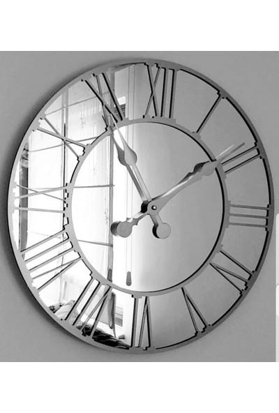 Peri̇m Decor La Vıe Argent 70 cm Aynalı Gümüş Duvar Saati