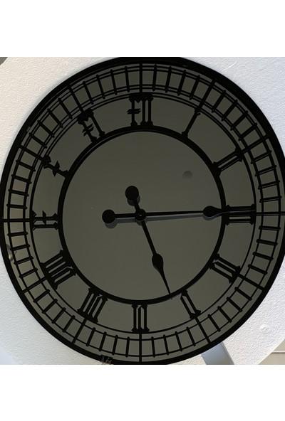 Peri̇m Decor Lıttleben Carbon 80 cm Füme Aynalı Siyah Duvar Saati