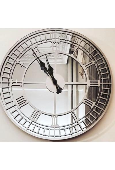 Peri̇m Decor Art Argent 50 cm Aynalı Gümüş Duvar Saati