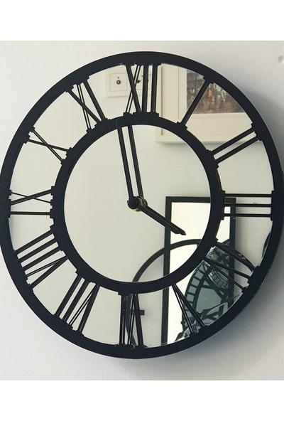 Peri̇m Decor La Vıe Carbon 60 cm Aynalı Siyah Duvar Saati