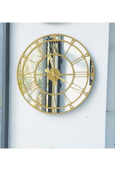 Peri̇m Decor Thor Dora 60 cm Aynalı Gold Duvar Saati