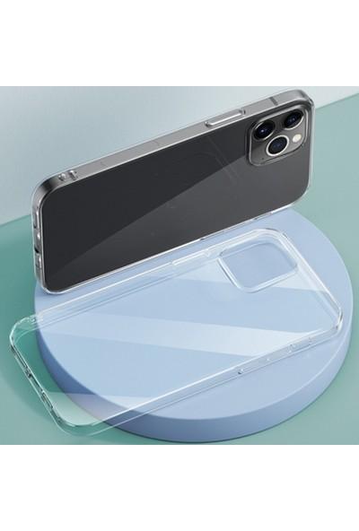 Ally Apple iPhone 12 Pro Max 6.7 Crystal Series Slim Şeffaf Silikon Kılıf AL-33229 Şeffaf