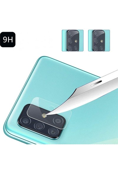 Ally Samsung Galaxy M51 Tempered Cam Kamera Koruyucu AL-33127 Şeffaf