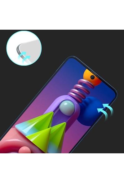 Ally Samsung Galaxy M51 Full Glue Tempered Full Cam Ekran Koruyucu AL-33126 Siyah