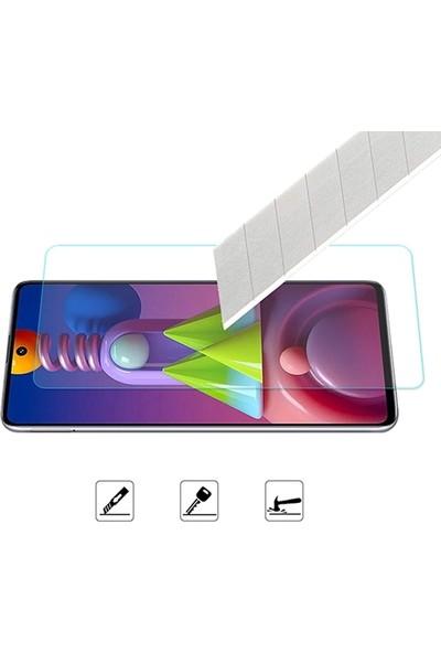 Ally Samsung Galaxy M51 Tempered Cam Ekran Koruyucu AL-33123 Şeffaf